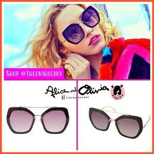 🏷 🆕 Alice + Olivia Square Geometric Sunglasses